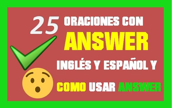 Oraciones En Inglés Con Answer