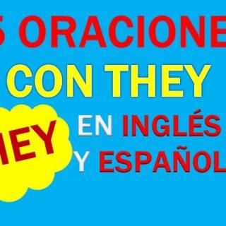 Oraciones Con They En Inglés